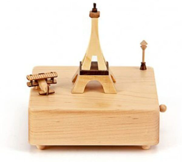 Paris Eiffel Tower Wooderful Life Collectible Music Box (Waltz Of The Flowers Music)
